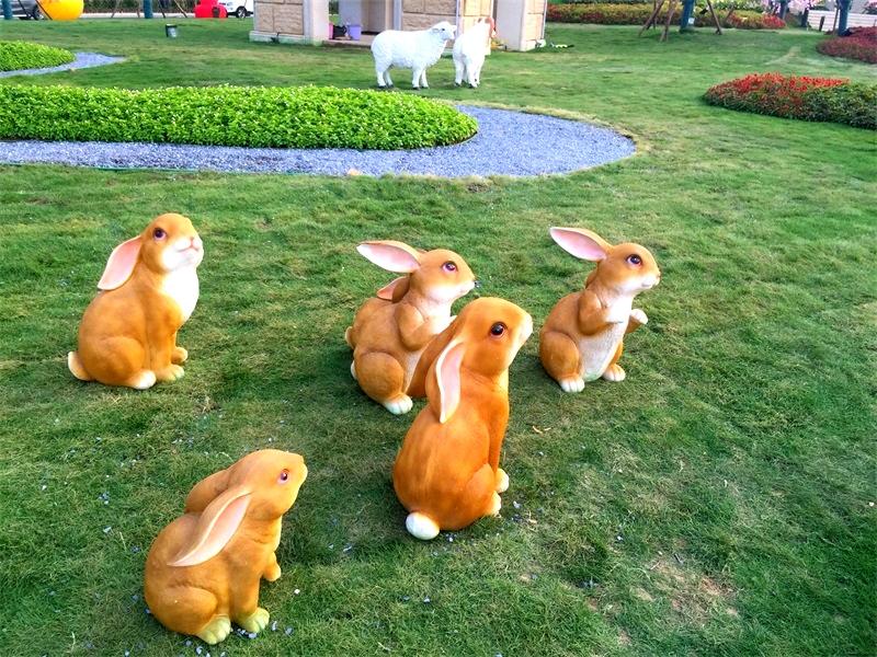 玻璃钢动物仿真兔子