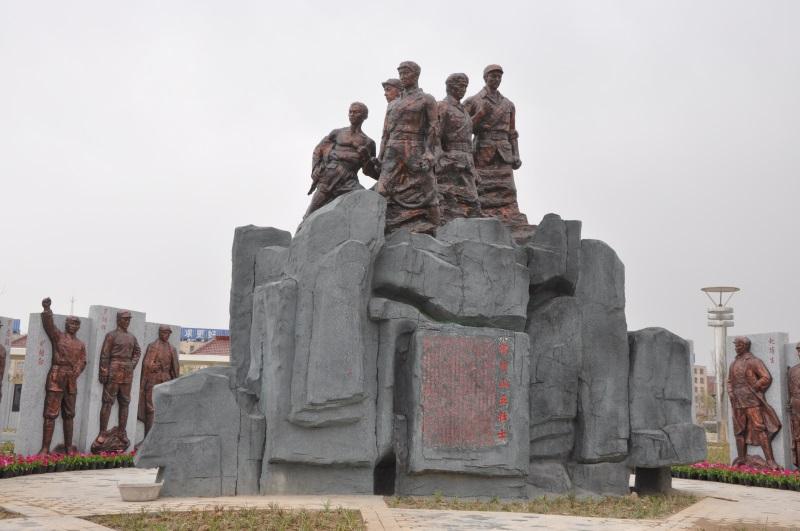 栾城双百人物广场铸铜人物