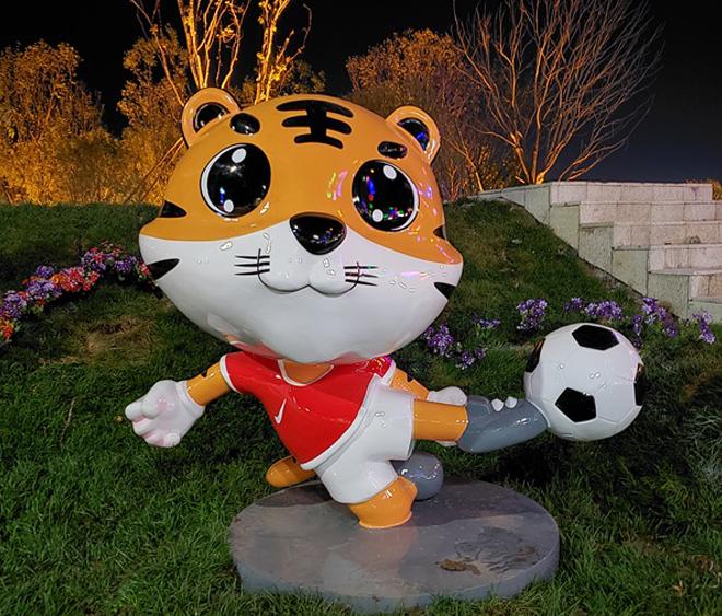 玻璃钢卡通动物可爱老虎