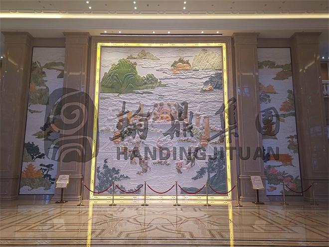 泰州扬子江汉白玉浮雕《昆仑仙境》