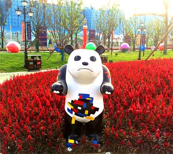 玻璃钢动物卡通熊猫