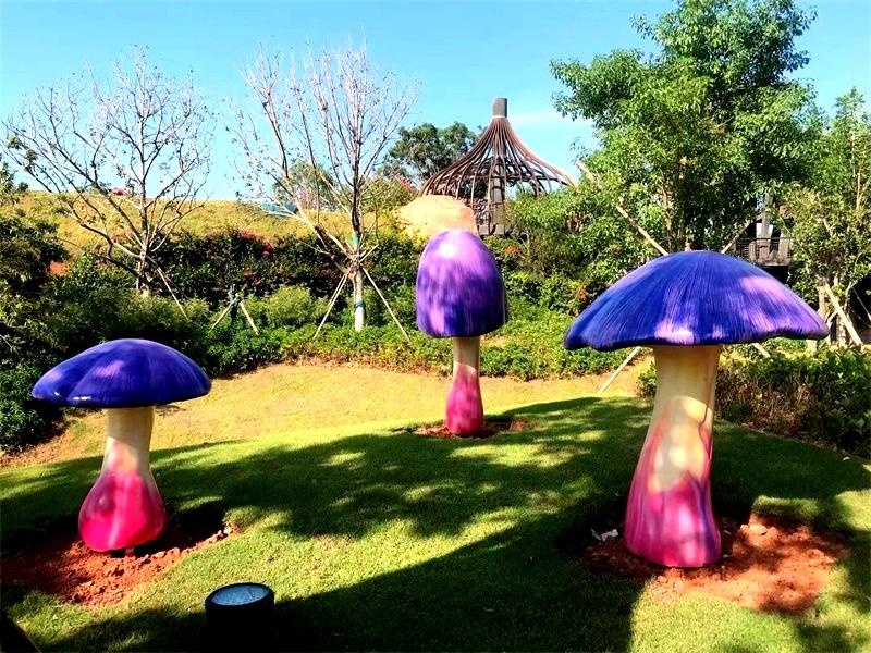 玻璃钢卡通手工彩绘蘑菇
